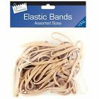 Elastic Rubber Band Assorted Size Quality Natural Colour Bands 100-Gram