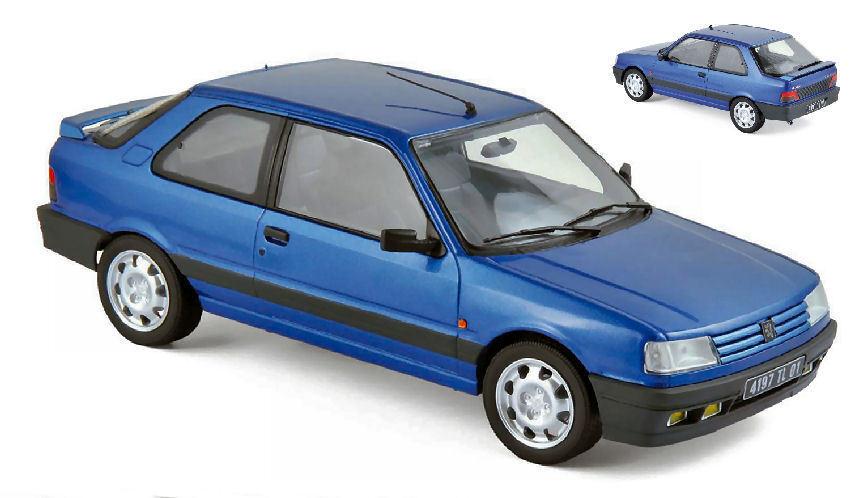 Peugeot 309 Gti16 1992 Miami bluee 1 18 Model 184881 NOREV