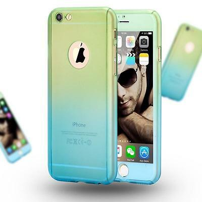 Ultra Thin 360° Full Body Protective Case For iPhone Models, Tempered Glass