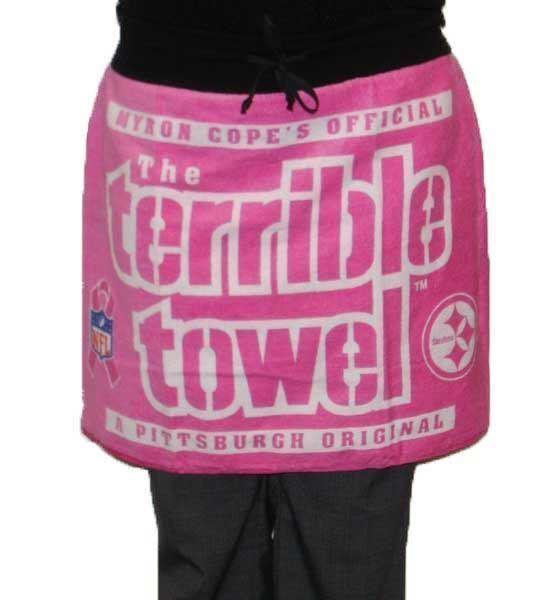 Pittsburgh Steelers Breast Cancer Awareness Terrible Towel Gameday Pink Skirt Wo