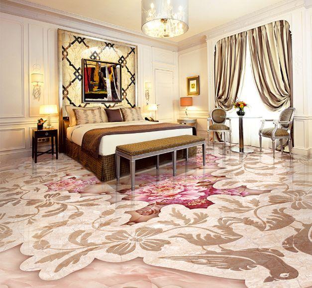 3D Pattern 05 Fond d'écran étage Peint en Autocollant Murale Plafond Chambre Art