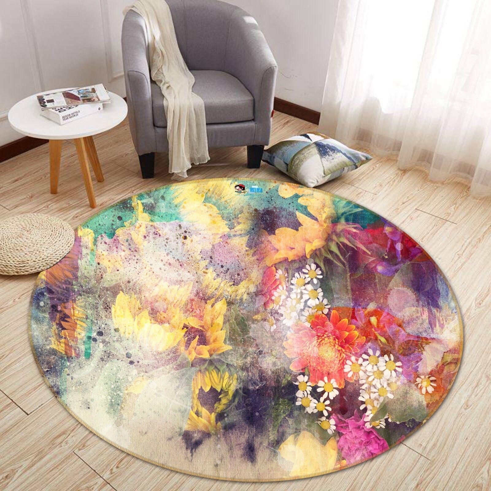3d GIRASOLE GIARDINO 3 antiscivolo tappeto bagagliaio giri elegante TAPPETO de