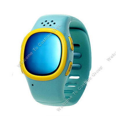 Kids Soft Wrist Band Dual GPS/LBS GSM Position Tracker Anti-lost SOS Watch MIC