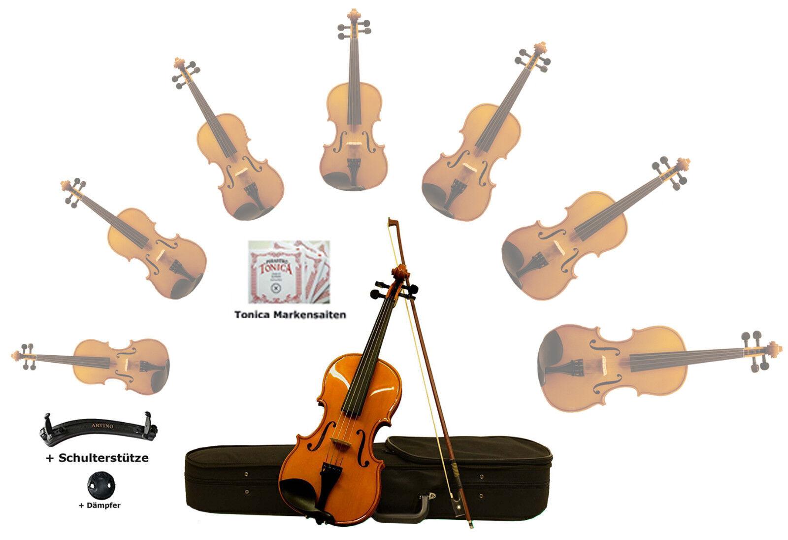 Sinfonie24 Geigenset Größe 1/4 Basic III Bernsteinfarbend