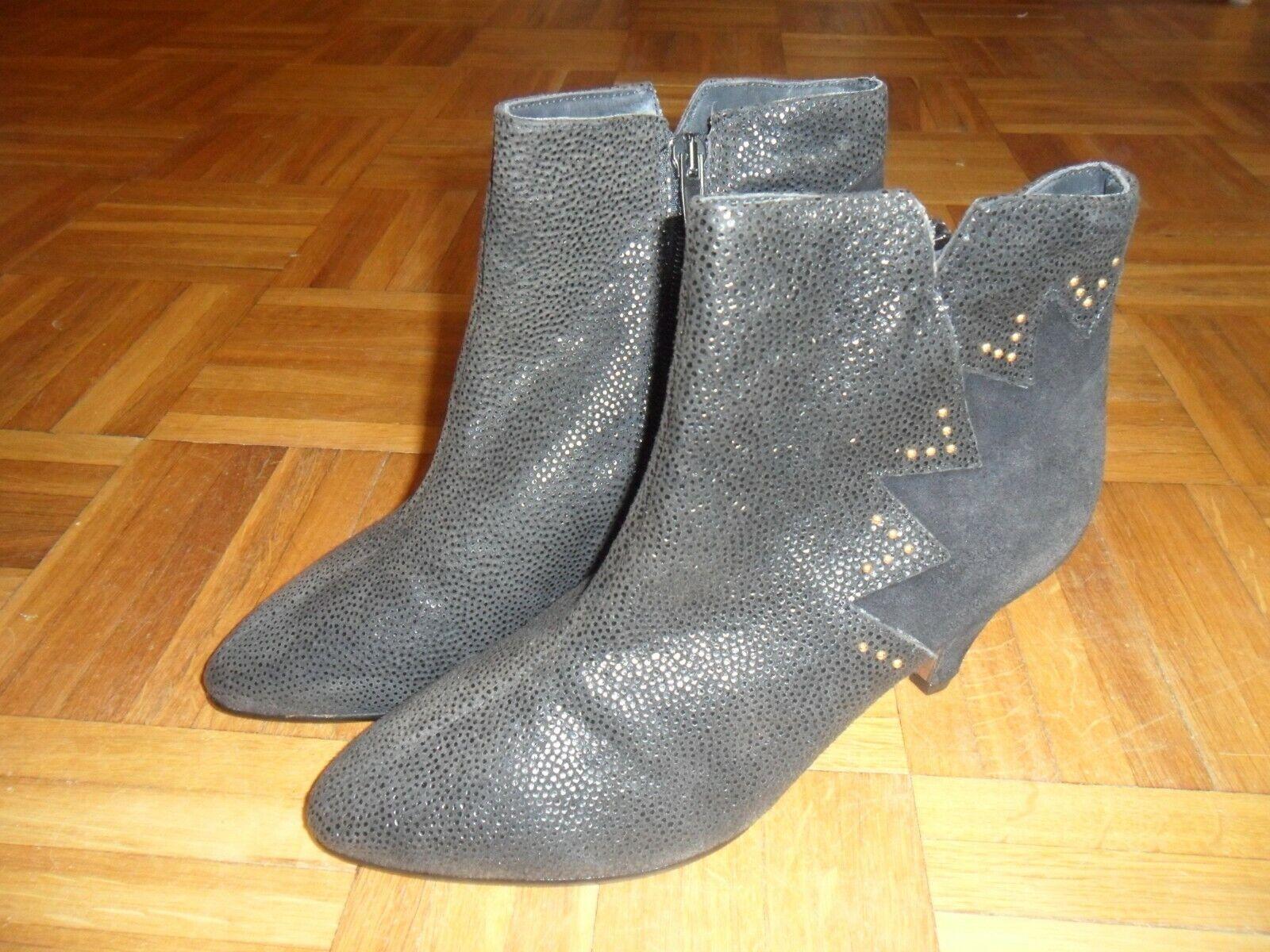 Afis - Damenschuhe - Stiefeletten - Größe 38 - Absatz  6,5 cm - Vintage - Leder
