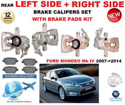 Ford Mondeo Mk4 2.3 2.5 2.2 2.0 scti Tdci 2007 en la parte delantera Discos De Freno De Pastillas De Freno