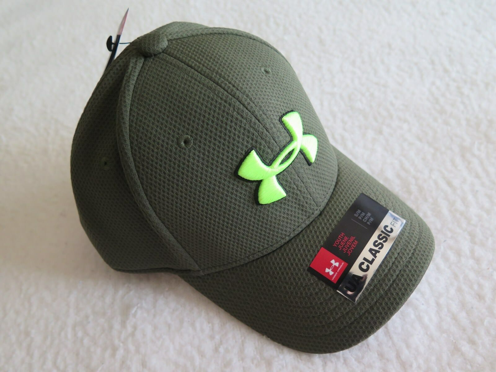 cefba52d071 Under Armour Boys  Blitzing Stretch Fit Hat II S m Style 1254660 330 for  sale online