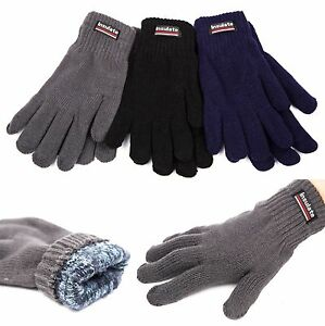 NEW Unisex Insulated Gloves Knit Winter Gloves Thermal ...