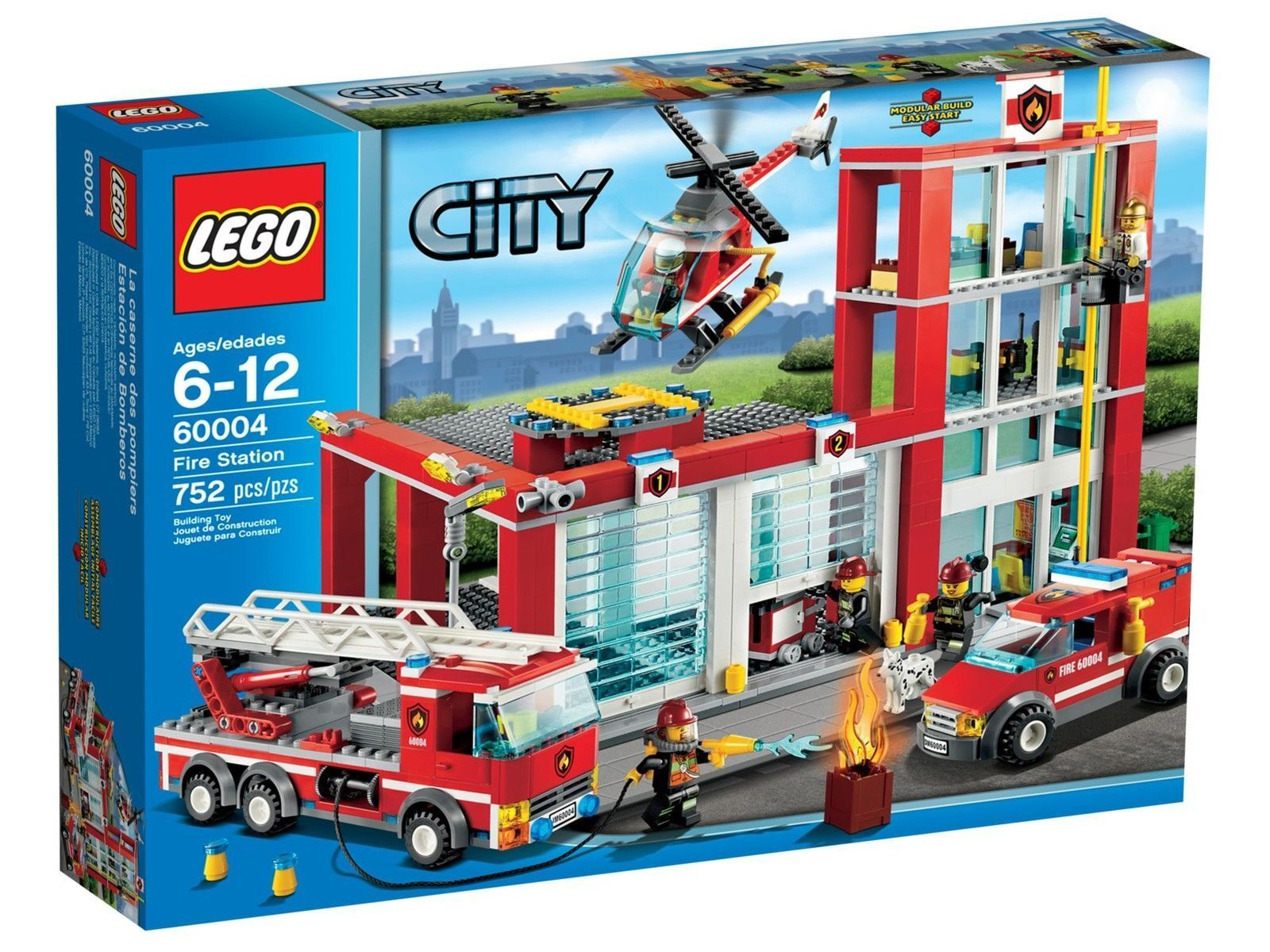 LEGO CITY 60004: Fire Station - Brand NEW in Box