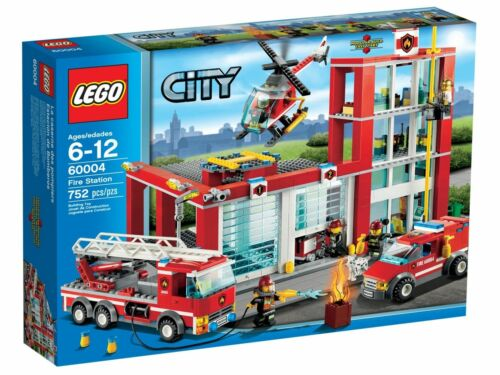 1 of 1 - LEGO CITY 60004: Fire Station - Brand NEW in Box