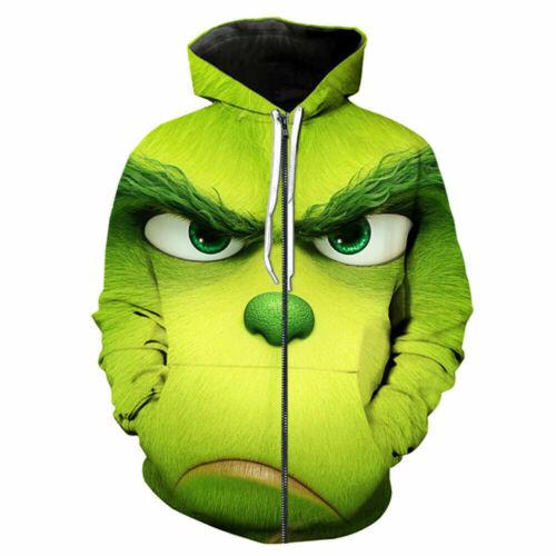 The Grinch 3D Hoodies Men Women Funny T-shirt Sweatshirt Jackets Sweater Pants