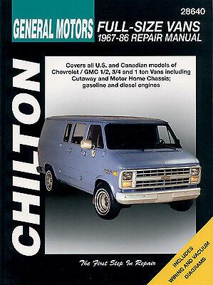 Chilton 28640 Repair Manual Chevrolet & GMC 1/2 3/4 & 1 Ton Van 1967-97