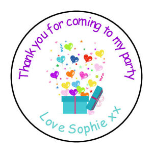 personalised birthday stickers labels thank you for coming to my