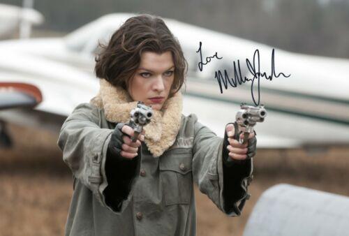 Milla Jovovich Pre-Print Signed A4 Size Photo Autograph Resident Evil 1462