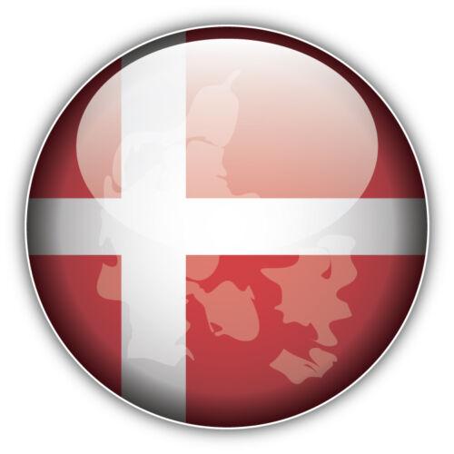 Denmark Map Flag Glossy Label Car Bumper Sticker Decal 5/'/' x 5/'/'