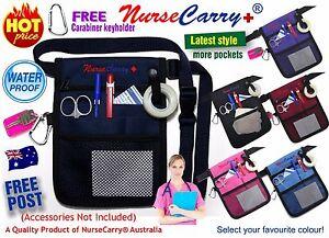 NURSE-CARRY-POUCH-POCKET-Waist-Bag-Quick-Pick-Vet-Nurses-Belt-FREE-Carabiner