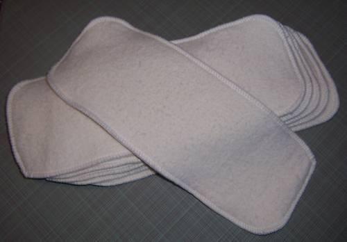 Cloth Diaper Inserts Super Soakers size 13x5 Hemp Organic Cotton Fleece Liners