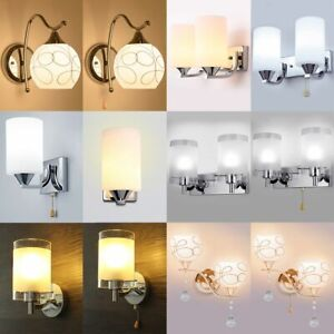 Modern-Glass-Wall-Light-Sconce-Lighting-LED-Crystal-Lamp-Fixture-Bedroom-Decor