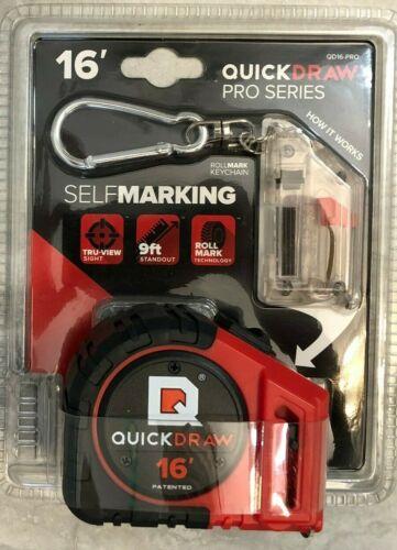 16/' Foot QUICKDRAW PRO Self Marking Tape Measure AND Reload Refills Bonus Pack