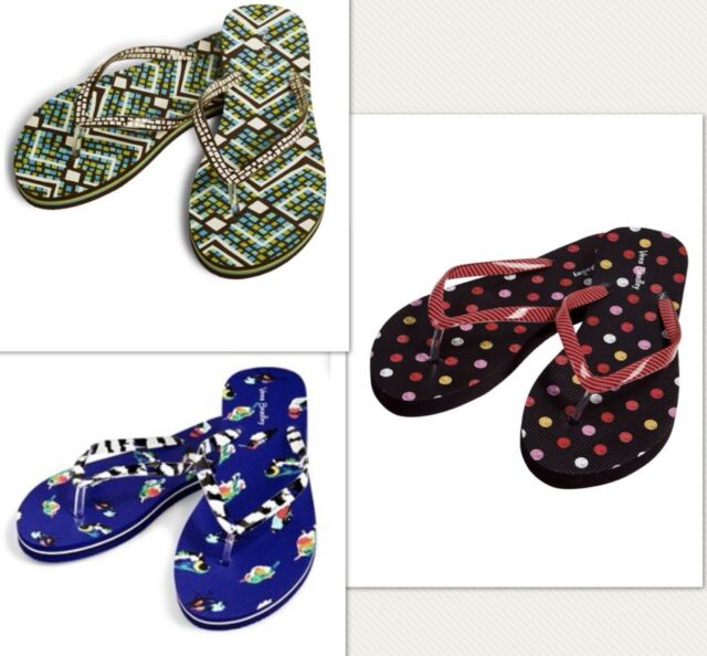8be144012 Vera Bradley PVC Flip Flops Havana Dots Size Medium 7 8 for sale ...