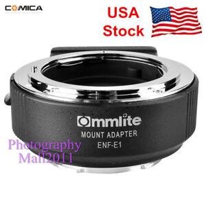 US-Stock-Commlite-ENF-E1-PRO-AF-Adapter-Nikon-F-Lens-To-Sony-E-A9-A7II-A7R-III