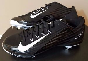 fea2f4520e49 Mens Nike Lunar Vapor Pro Baseball Cleats Size 13 Black White Metal ...