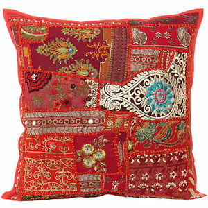 Decorative-Throw-Pillow-Covers-Accent-Pillow-Couch-Sofa-Pillow-24-034-Red-Pillows