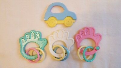 Objective New* Baby Rattle/teether Toys,choose Design/colour,sensory,stocking Filler,gift. Clear And Distinctive