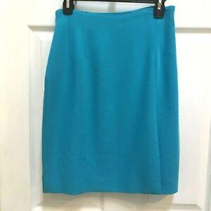 Gianni-Sport-Pencil-Skirt-size-8-Aqua-Blue-Lined-USA-Made