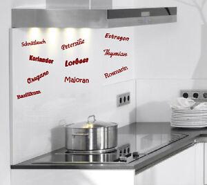 Details zu Wandtattoo, Aufkleber, Küche, Kochen, Kräuter