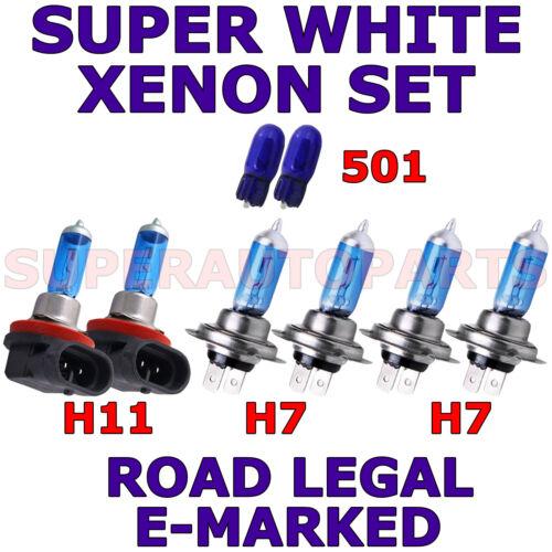 SET OF 2X H7 H7 H11 501 W5W XENON WHITE LIGHT BULBS SUZUKI KIZASHI 2010