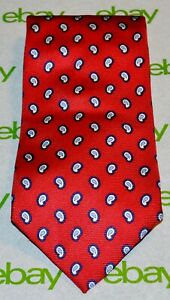 FACONNABLE-Red-Blue-Navy-White-Paisley-100-Silk-Tie-Hand-Made-in-France