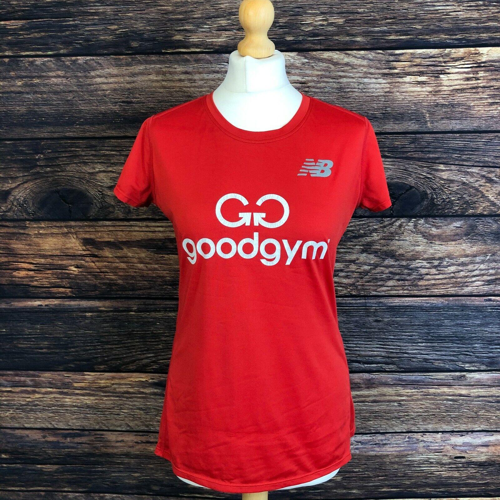 NB NEW BALANCE GoodGym Women's Red Gym Training Running T Shirt Size Medium