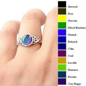 Magic-Mood-Ring-Charming-Temperaturregelung-Farbwechsel-Schmuck-Vintage-Heiss