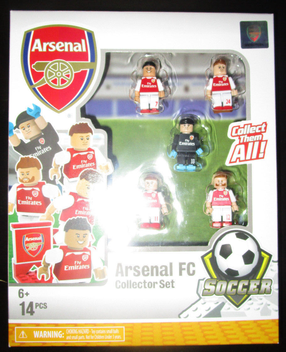 OYO Buildable ARSENAL FC COLLECTOR Set TEAM SOCCER FLY EMIRATES TEAM CECH OZIL'S