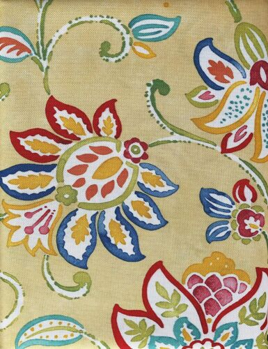 Fiesta Jacobean Floral Water Repellent Tablecloth Sunflower Assorted Yellow