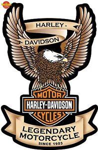 Harley Davidson Logo Window Decal Eagle Sticker Car Truck Auto RV