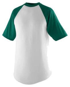 Augusta-Sportswear-Men-039-s-Short-Sleeve-Fishtail-Bottom-Baseball-T-Shirt-423