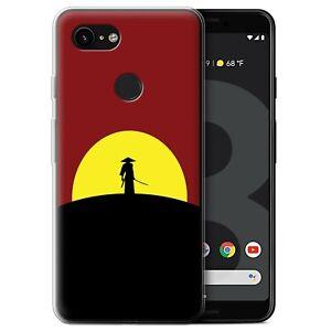 Gel-TPU-Case-for-Google-Pixel-3-Minimalist-Movie-Art-Last-Samurai-Inspired