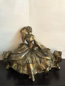 Antique 1900 S Art Nouveau Weidlich Bros Spelter Jewerly Casket Ebay