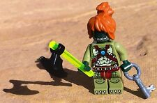 genuine lego parts - custom  fantasy mini figure HALLOWEEN MONSTER green ZOMBIE