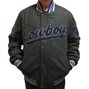new style dabc2 ec3c2 Details about Dallas Cowboys G-lll Sports Classic Varsity NFL Jacket -  Charcoal