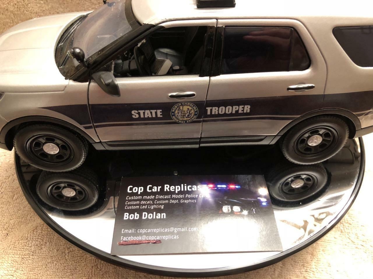 1 18 SCALE NORTH CAROLINA STATE TROOPER  SUV MODEL WITH WORKING LIGHTS AND SIREN
