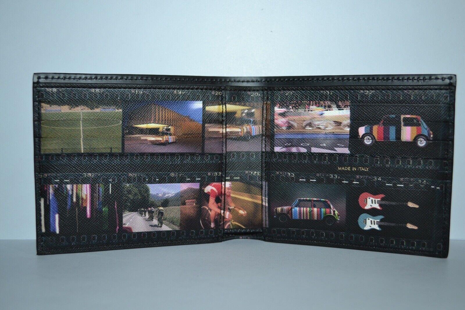 Paul Smith Mens Mini Filmstrip Bilfold Wallet New
