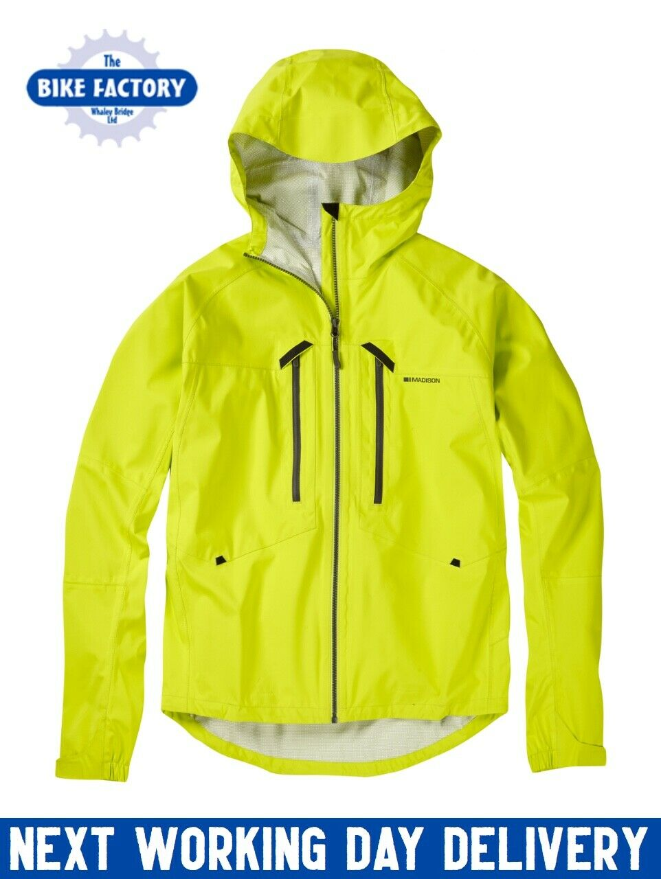 Madison – Zenith Men's Waterproof Jacket – MTB - Lime – Large