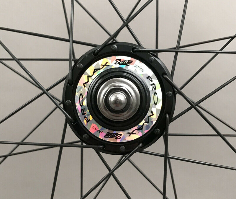 Image 4 - Velocity A23 Black Rims Suzue Hubs Single Speed Track Fixed Gear Bike Wheelset