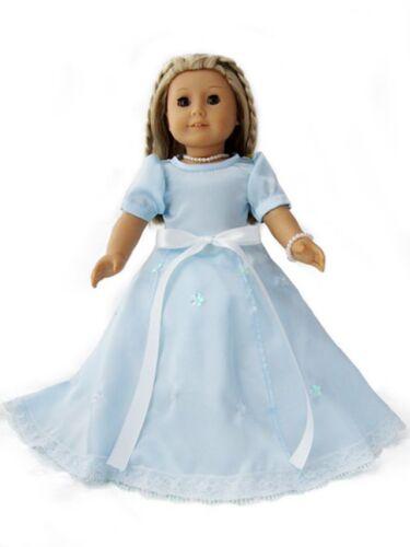 "Doll Clothes 18/"" Dress Blue Queen Elsa Crown Fits American Girl Dolls"