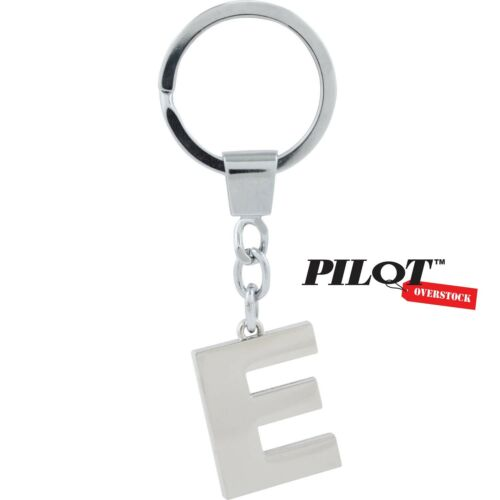 US SELLER FAST SHIPPING Pilot Automotive Chrome Letter E Key Chain
