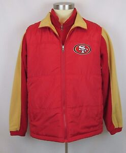 best authentic e63c5 2f09f Details about NFL San Francisco 49ers Mens Vest Jacket with Matching  Sweatshirt Large Red NWT