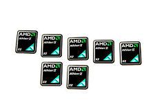 AMD Athlon 2 II X2 Sticker 7x Stück pcs Aufkleber Laptop PC Label case logo new